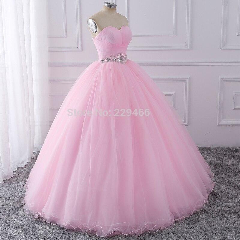 Wuzhiyi Quinceanera robes 2019 rose robe de bal vestidos de festa longo 15 anos doux 16 robe robes de Debutante robe pour la croissance - 2