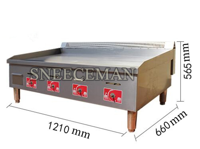 1 2m Flat Top Gas Grill Gas Grab Cake Machine Commercial Gas Tepp Ki Squid Machine Burner In Electric Grills Electric Griddles From Home Appliances On