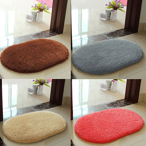 Anti-Skid Soft Fluffy Absorbent Area Rug Home Bathroom Floor Shower Door Mat