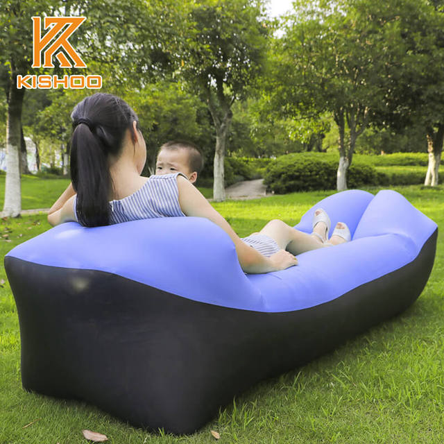 blow up beach chair modern home air furniture foldable gas lazy sofa bed sunshine park sleeping bag equipment waterproof for
