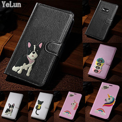 На Алиэкспресс купить чехол для смартфона yelun for leagoo s9 t8s cover angry eyes bulldog unicorn business style flip leather wallet funda card slots phone case