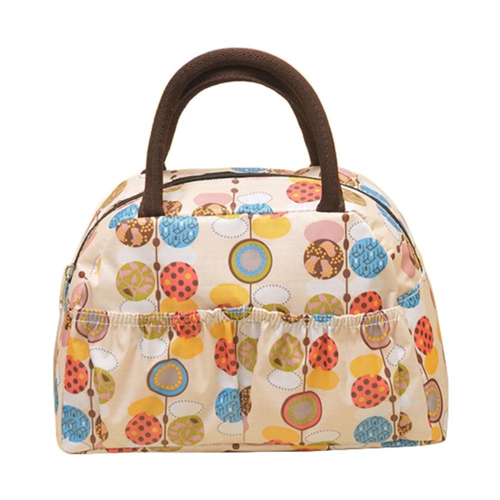 27 12 17cm Floral Pattern Insulation font b Lunch b font font b Bag b font