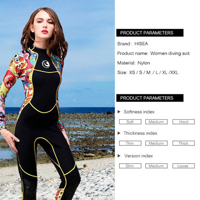 3mm Full Body Women Swimming Wetsuit dive suit Neoprene Wetsuit Color Diving Snorkeling Swimming Water Sport Equipment
