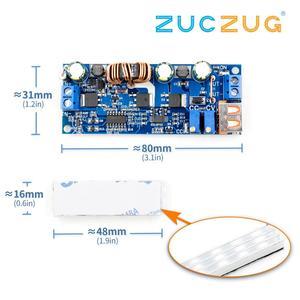 Image 1 - DC DC 2V 24V to 3V 30V 80W USB Step UP Power Supply Module Adjustable Boost Voltage Converter 4A