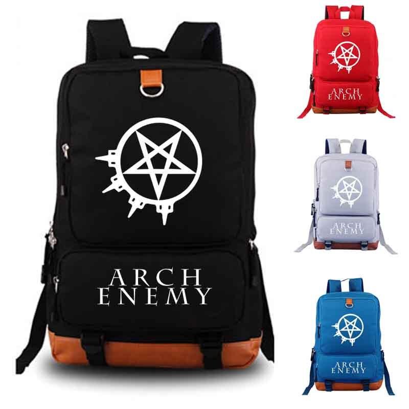 Arch Enemy Рюкзак Школьные сумка рюкзак ежедневно мужские и женские рюкзаки Тетрадь рюкзак