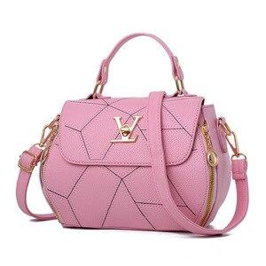 Image 4 - 2019 neue Frau Mode V Buchstaben Designer Handtaschen Luxus Qualität Dame Schulter Umhängetaschen Heiße Messenger Tasche