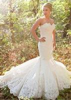 Vintage Lace Mermaid Sweetheart Wedding Dresses 2017 Luxury Bridal Gowns New Couture Custom Made Formal Winter