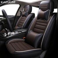 KADULEE ПУ покрытие автокресло для TOYOTA Corolla RAV4 Горец Прадо Yaris Prius Camry авто аксессуары автомобиль Стайлинг автомобиля мест