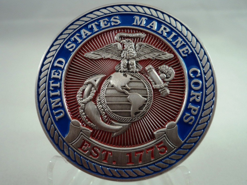 Custom coins hot sales USMC Devil Dog Challenge Coin Marine Corp High quality Custom metal coins FH810200 in Non currency Coins from Home Garden