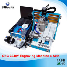 Desktop mini cnc router 3040Y 4 axis engravnig machine 800w water cooled cnc machine mini lathe