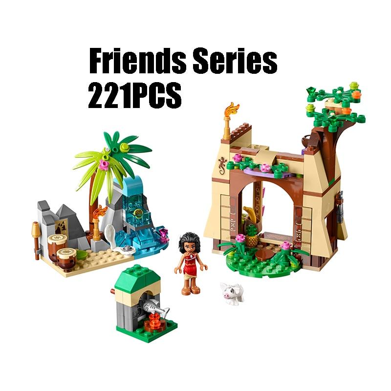 WAZ Совместимость legoe друзья 41149 25004 221 шт. строительные блоки Моана остров приключений кирпичи рисунок игрушки для детей
