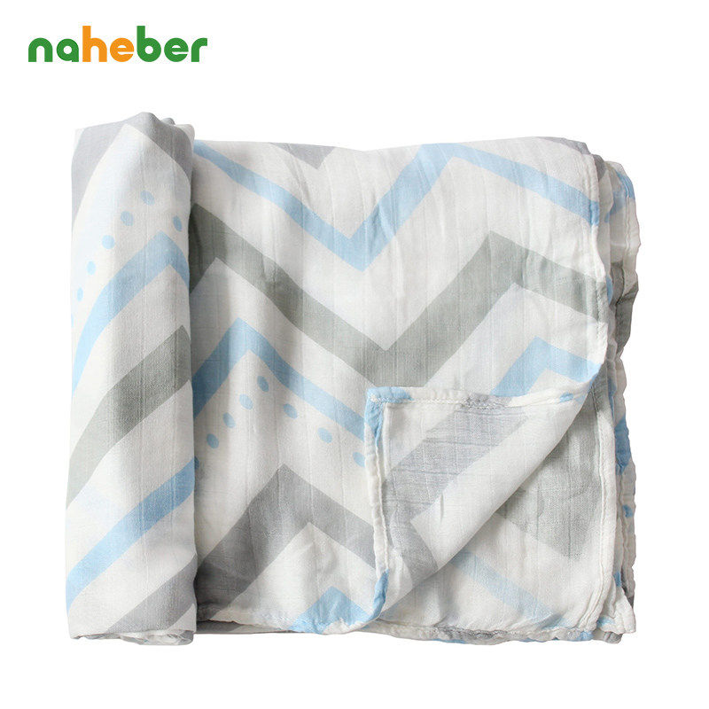 Double Layer Gauze Bamboo Muslin Cotton Baby Swaddles 120x120cm For Newborn Baby Swaddle Blankets Bath Towel Hold Wraps