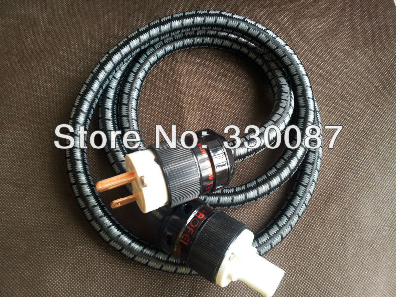 цена на gaofei US AC power cable copper wire conductor and red copper power plug audiophile