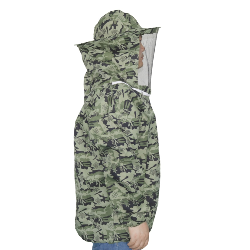 1 Pcs New Camo Clothing Thickening Breathable Beekeeping Protective Clothing Suitable For Height 150cm-180cm Beekeeper