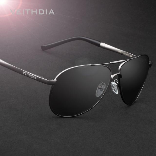 VEITHDIA Gafas de Sol Polarizadas Lente de Los Hombres Gafas de Sol de Espejo Masculinos Eyewears Accesorios Para Hombres 3320