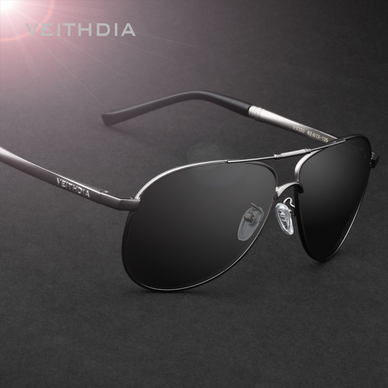 VEITHDIA Men's Sunglasses Polarized Lens Mirror Sun Glasses Male Eyewears Accessories For Men 3320