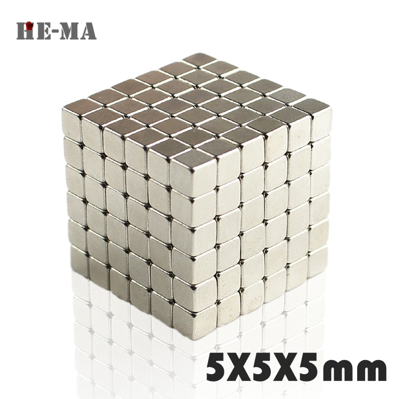 20/50pcs Powerful Neodymium 5x5x5 Magnets 5*5*5mm N35 Super Strong Cuboid Cube Double Nickel Rare Earth Magnets Powerful Magnet