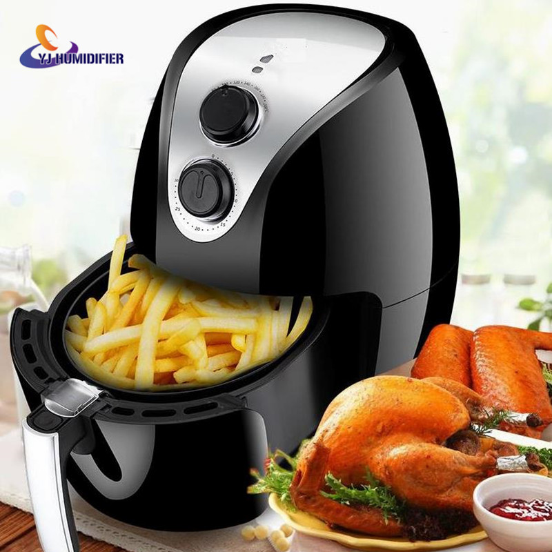 2.6L Air Fryer Without Large Capacity Electric Frying Pan Frying Pan Machine Fries chicken wings Intelligent Deep Electric Fryer 220v 2 6l electric deep fryer household air fryer oil free and smokeless intelligent french fries machine