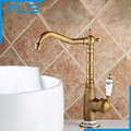 Free Shipping Kitchen Faucet Antique Brass Swivel Bathroom Basin Sink Mixer Tap Crane,torneira FLG1178