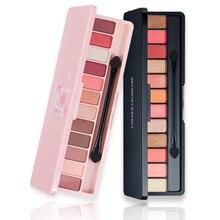 Professional Eyeshadow Palette Eye Makeup Glitter Matte Eye Shadow Long-lasting Make Up Cosmetic Waterproof Eyeshadow 10 Colors все цены