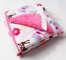 High Quality !!Thick Swaddling New 2014 Newborn baby blanket Microfiber plaid Fleece baby blanket soft blanket