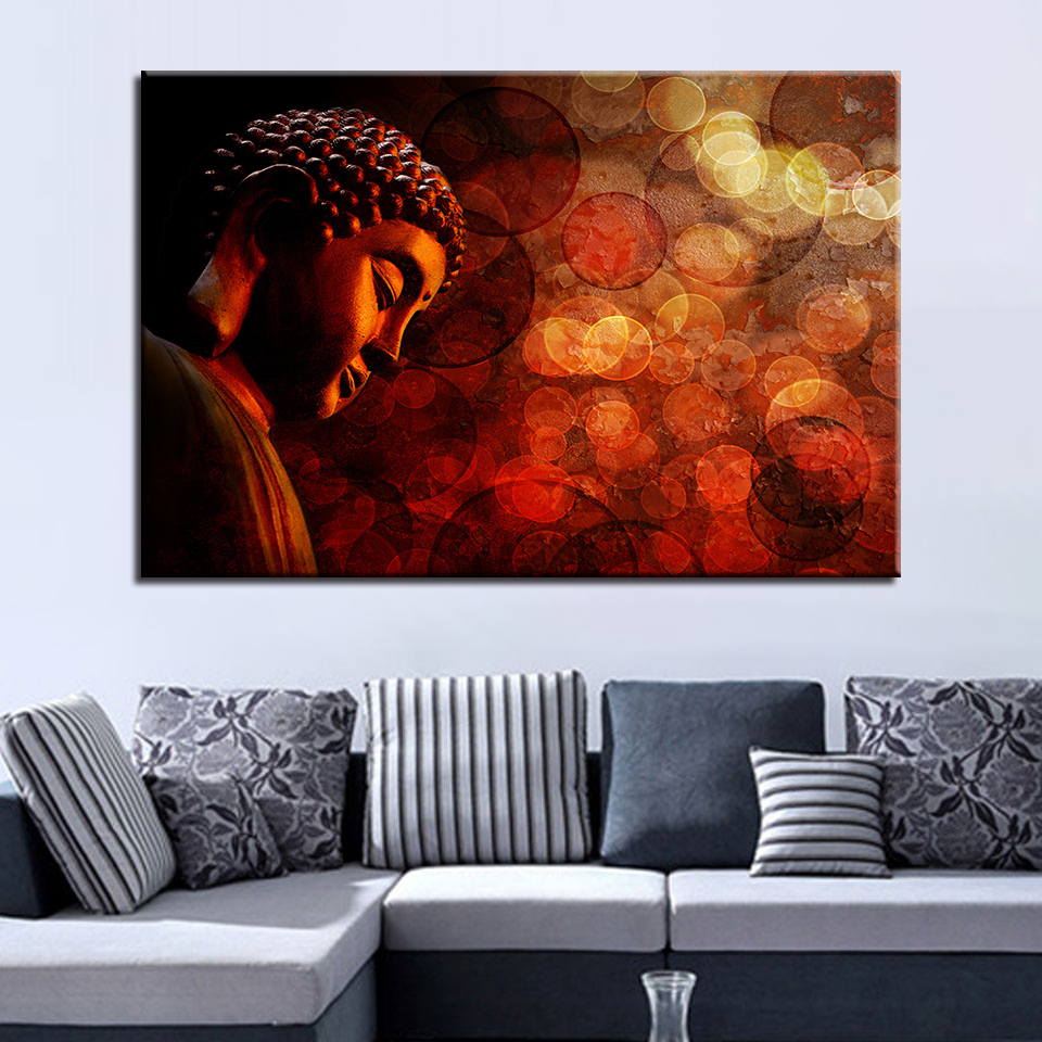 Modular Pictures Wall Art HD Prints 1 Pieces Buddha Canvas Painting Religious Home Decoration Living Room Bedroom Artwork Poster