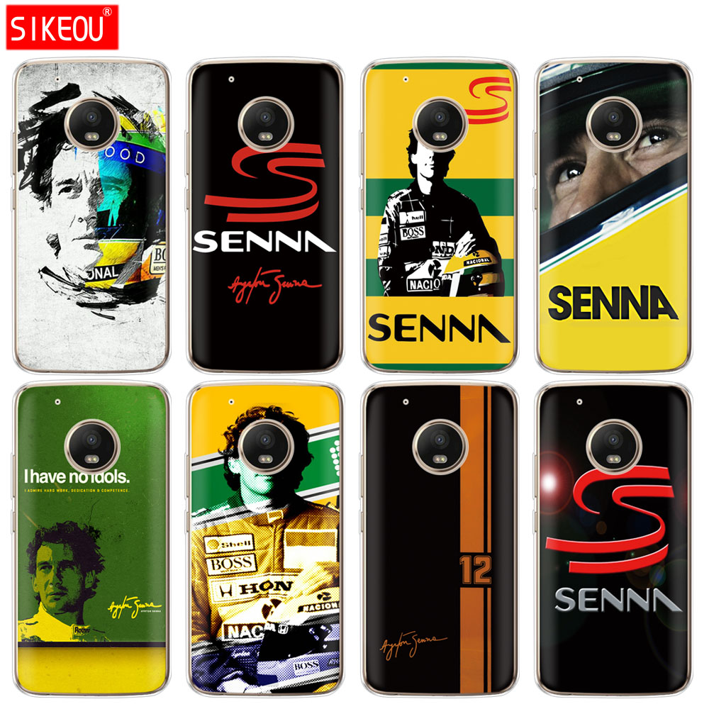 silicone case phone cover For Motorola Moto G6 G5 G5S Z2 Z3 PLAY PLUS X4 E4 E5 C Ayrton Senna