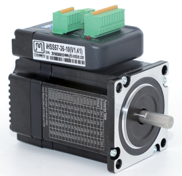 NEMA 23 1N.m 142ozf.in Integrated Closed Loop Stepper motor 36VDC JMC iHSS57-36-10 nema23 2nm 283oz in integrated closed loop stepper motor with driver 36vdc jmc ihss57 36 20