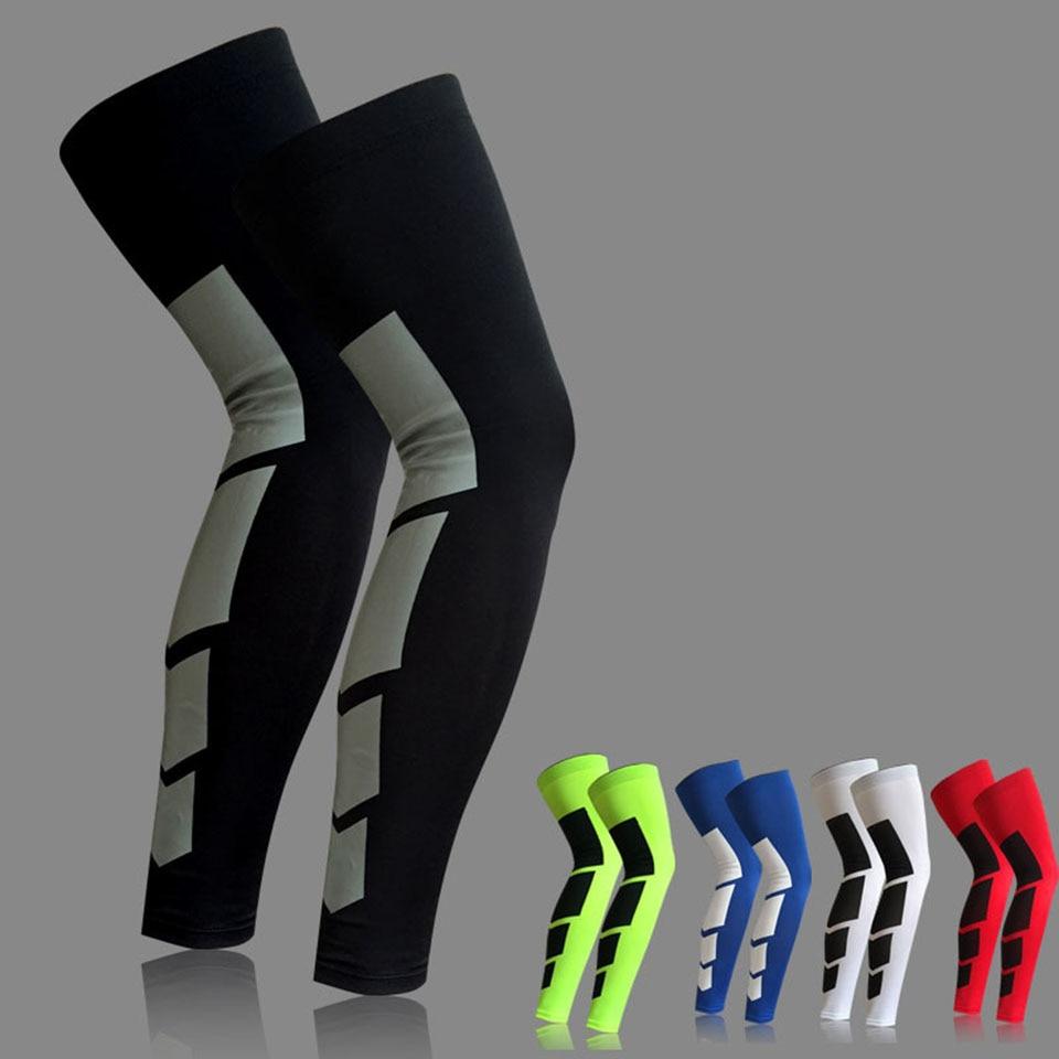 1 Uds Super lycra elástica calentadores de pierna de baloncesto pantorrilla muslo mangas de compresión rodillera de fútbol voleibol ciclismo