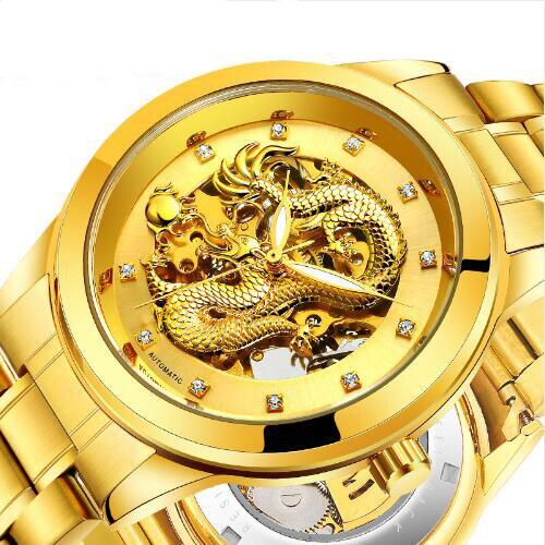 Montre Hommes Top Marque De Luxe Or Hommes de Montre D'affaires Classique Mécanique Montres Horloge De Mode Sport Montres Reloj Hombre relogio