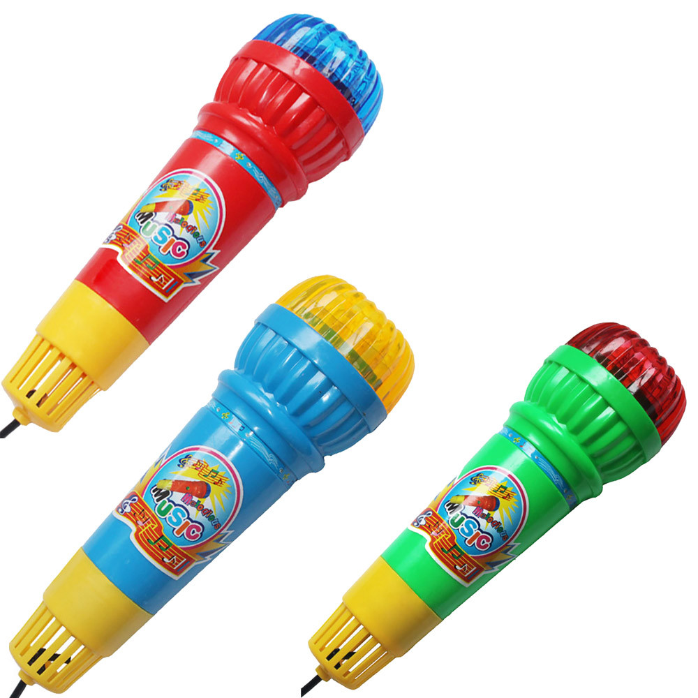 Microphone Mic Voice Changer Toy Gift Birthday Present Kids Party Song  Musical Instrument  Microphone Children