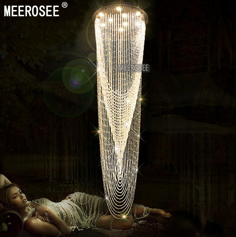 contemporary stair ceiling mounted light fixture interior decoration clear crystal ceiling light for hotel lamp lustre cheap lighting fixtures