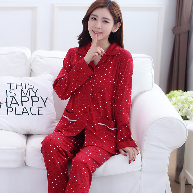 Popular Red Pajamas Women-Buy Cheap Red Pajamas Women lots from ...