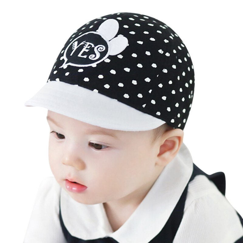 High Quality Infant Newborn Baby Girls Sun Hat Polka Dot Children Cotton  Hats Adjustable Snapback Polka Dot Caps New Arrival-in Hats   Caps from  Mother ... 7faf00faeef