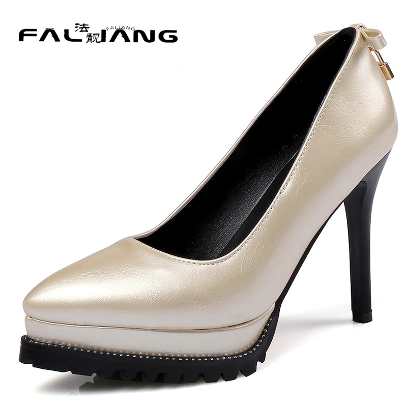 New arrival Spring Autumn plus size 11 12 13 14 15 16 17 Fashion Sweet Pointed Toe Butterfly-knot womens shoes High Heel Shoes new flock high big size 11 12 women shoes wedges pointed toe woman ladies butterfly knot casual spring autumn sweet single shoes