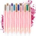 18Colors/Set Eyeshadow Eyeliner Pen Wih Brush Highlights Natural Long Lasting Waterproof Eyeliner Pencil For Ladies Makeup Tool
