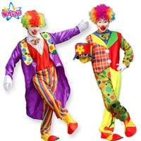 Spedizione Gratuita Per Adulti Divertente Circo Clown Costume Impertinente Arlecchino Uniforme Circo di Fantasia Vestito Cosplay Abbigliamento per le Donne Degli Uomini