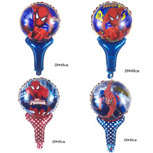 1psc hand-held Spiderman aluminum foil balloons Children's toy balloon birthday party decoration kids Supplies(China)