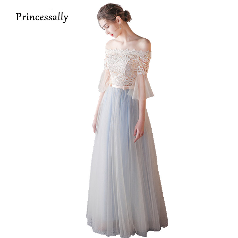 Robe De Soriee Fromal Dresses Long Lace Tulle Bride