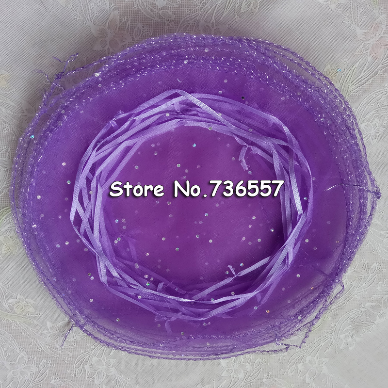 (100pcs/lot)34cm/13inch Diameter Gold Round Organza Bag Gift Bag Sweet Bag Wedding Pouch For Sale