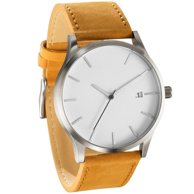 Low-key watches Minimalist Connotation Leather Men's Quartz Wristwatch relogios reloj mujer clock watch men Relogio masculino