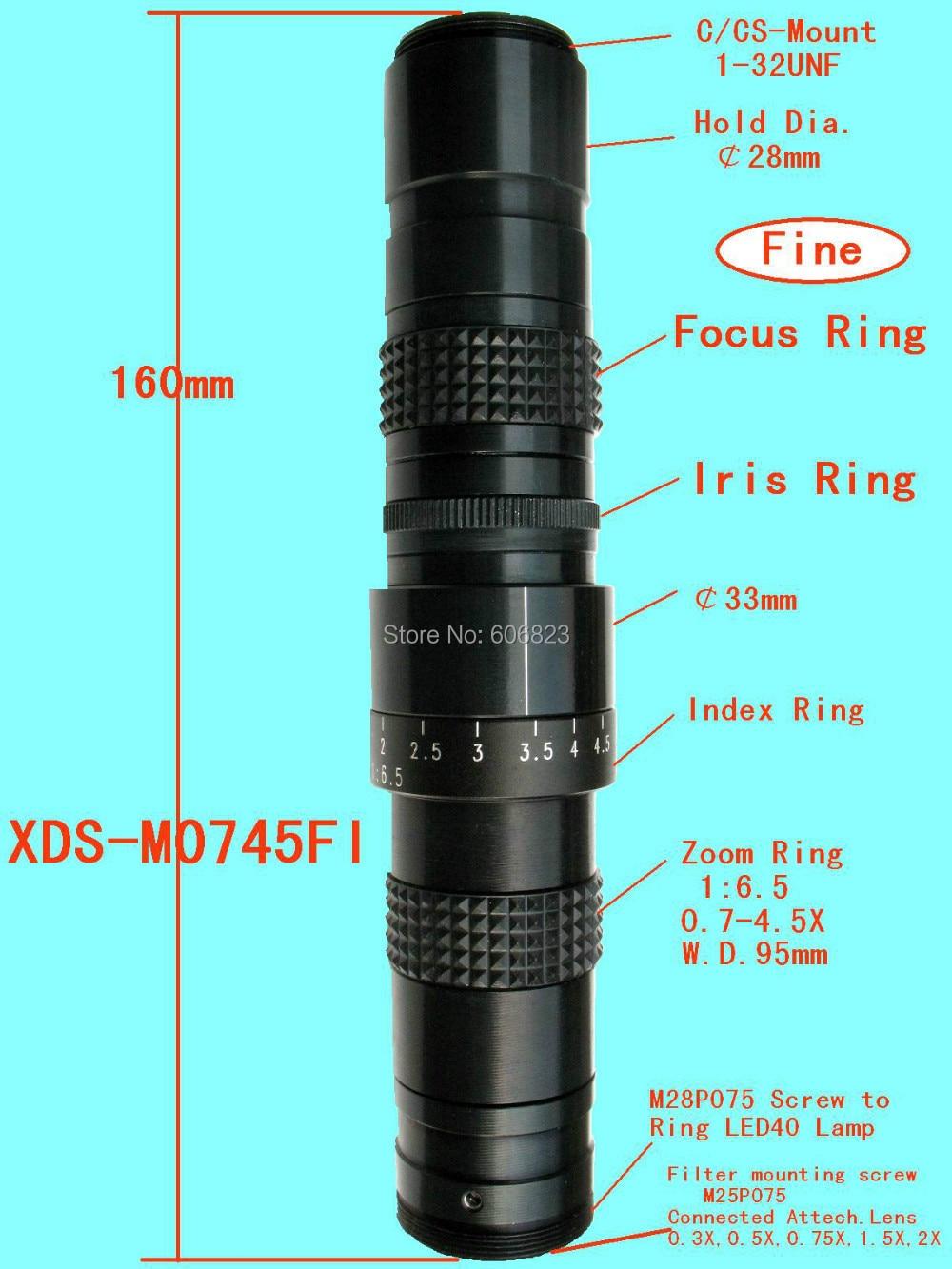 Manuale Iris Zoom 6-60mm CS C Mount Lens per TV Microscope Chip CCD da 1//3