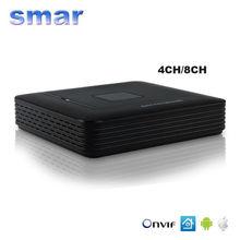 CCTV Мини HD Видеорегистратор Onvif NVR 4CH 8 Канальный H.264 сетевой ВИДЕОРЕГИСТРАТОР Для 720 P 1080 P Ip-камера Системы Безопасности P2P Лучшие цена