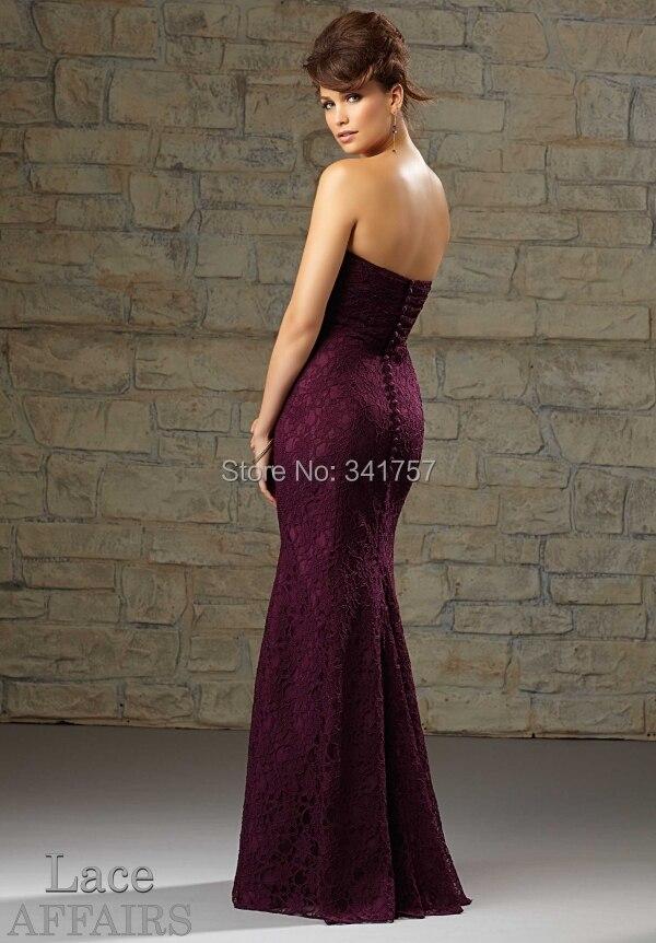 Aliexpress.com : Buy Eggplant Bridesmaid Dresses Mermaid 2015 ...