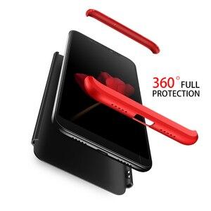 Image 4 - 3 in 1 Plastic Hard 360 Tempered Glass + Case for Xiaomi Redmi Note 7 Anti Shock Back Cover Case for Xiaomi Redmi Note 7 Pro 7A