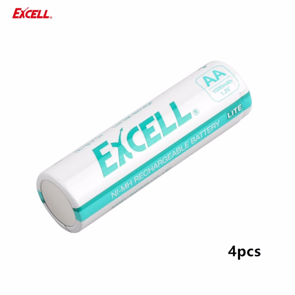 4PCS EXCELL AA 1000mAh Ni-MH Rechargeble Battery 1.2V Durable Low Self Discharge Precharged Rechargeable Battery