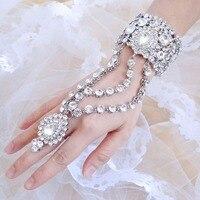 2015 New Spring Bella Fashion Gem Wedding Bracelet Ring Set Austrian Crystal Bridal Bracelet Set For