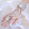 BELLA Gold & Silver Plated Clear Tear Drop Bridal Bracelet Ring Set Wedding Accessory Austrian Crystal Bracelet Ring Set Luxury