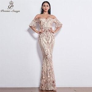 Image 5 - Poems Songs New Style elegant luxury Evening dresses long vestido de festa longo prom dress robe de soiree evening gowns