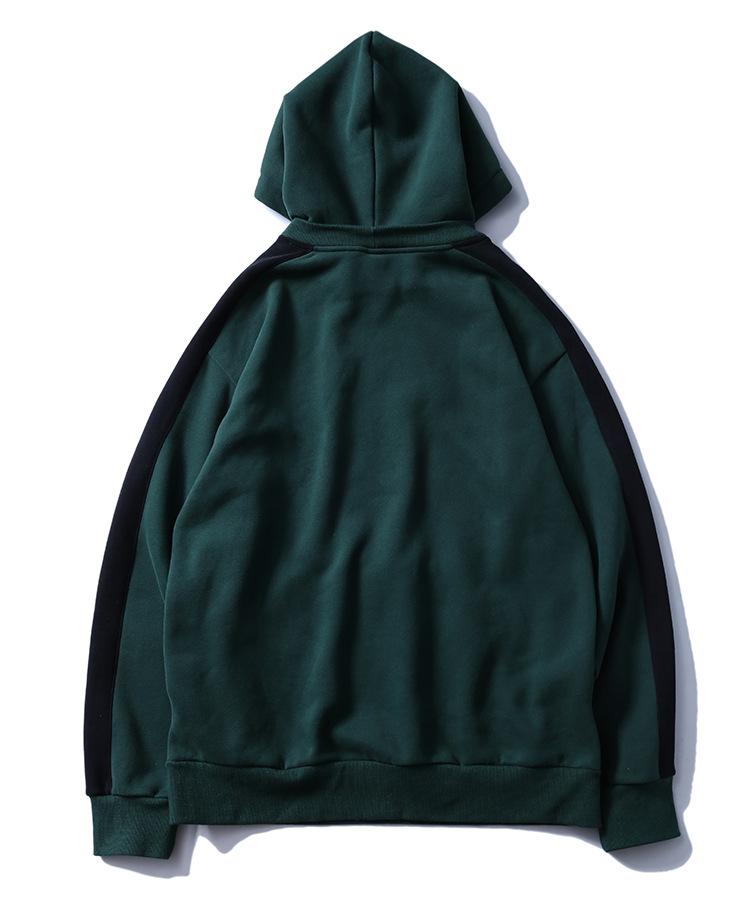 Aolamegs Hoodies Men Side Striped Hood High Street Pullover Cotton Fashion Hip Hop Streetwear Casual Big Pocket Hoodie Autumn (35)